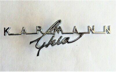 "Ghias /' 63 /""KARMANN GHIA/"" VW Vintage Parts Decklid Script /' 74"
