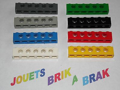 Lego Technic 2x Brique Brick 1x6 hole bleu//blue 3894 NEUF
