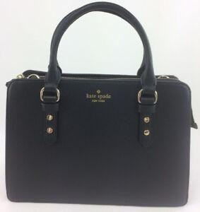 New-Authentic-Kate-Spade-Lise-Mulberry-Street-Satchel-Crossbody-Handbag-Black
