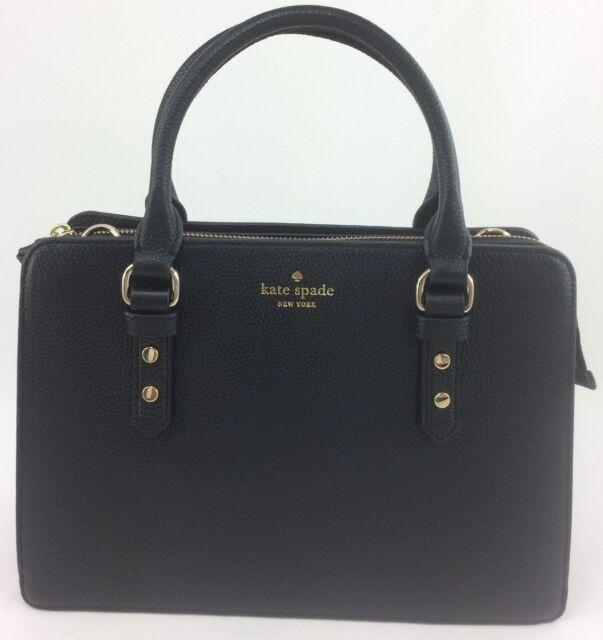New Authentic Kate Spade Lise Mulberry Street Satchel Crossbody Handbag Black