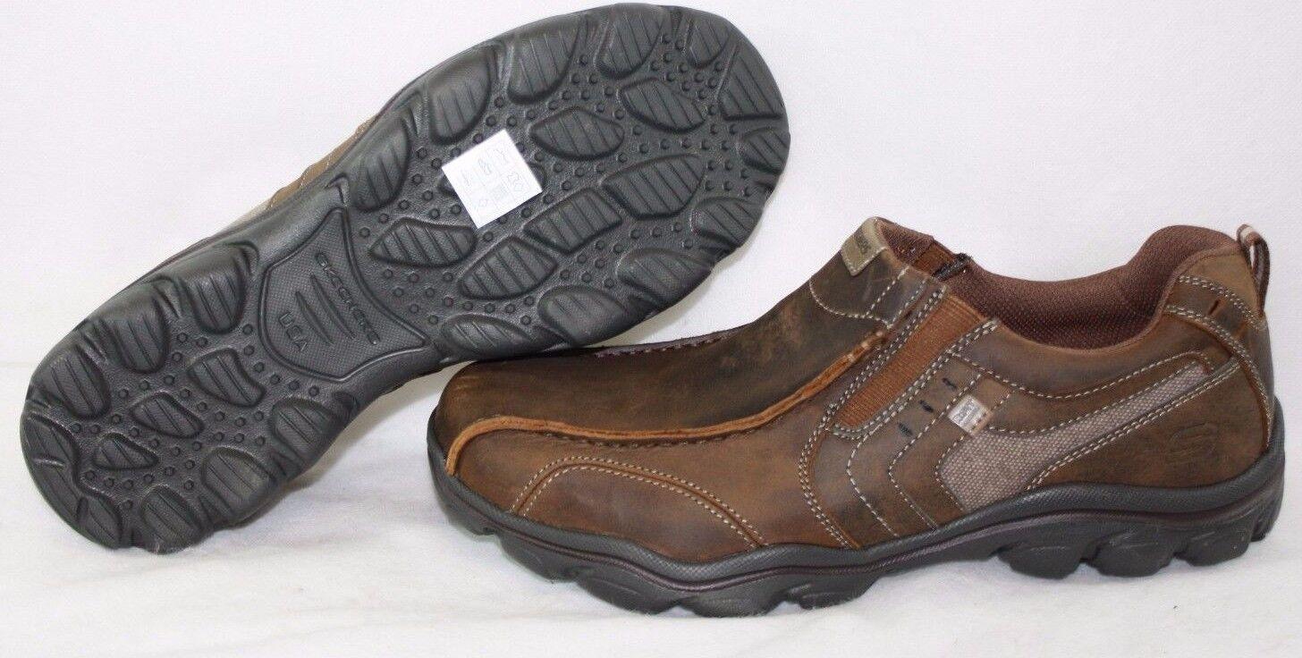 NEW Mens SKECHERS Montz Konic 64072 CDB Slip On Brown Sneakers Shoes DISPLAY