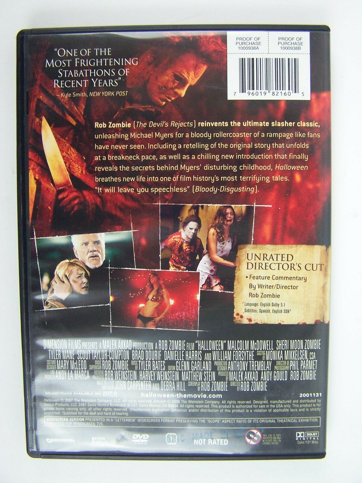 Halloween - Unrated Director's Cut DVD A Rob Zombie Fil