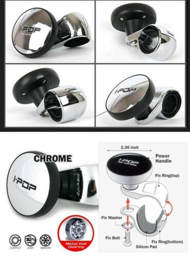 I-POP Chrome Car Steering Wheel Spinner Knob For HYUNDAI 2008-2015 i30 i30cw