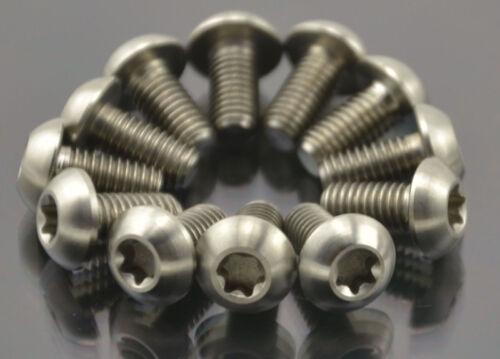 12Pcs Titanium Ti M5 x10mm Screws Torx T25 Head Titanium Disc Brake Rotor Bolts