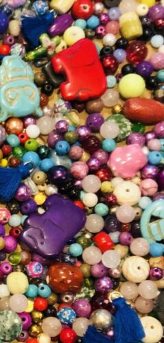 ~200~ Piece Loose Beads Mixed Lot Craft Jewelry Grab Bag 4mm And Up