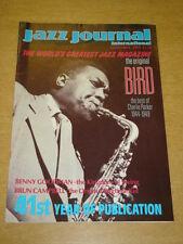 JAZZ JOURNAL INTERNATIONAL VOL 41 #11 1988 NOVEMBER CHARLIE PARKER BENNY GOODMAN