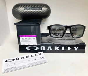 98c7280aed26 Image is loading Oakley-Sunglasses-TARGETLINE-POLISHED-BLACK-PRIZM-BLACK- POLARIZED-
