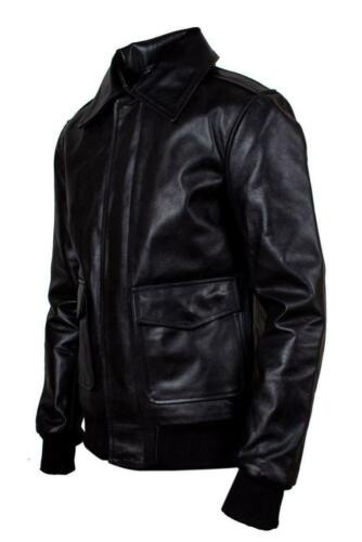 Harrington Jacket 2 Leather Motorbike Vintage A Airforce Classic Mens Genuine PCwpqwO