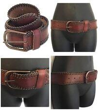 LINEA PELLE Vintage Collection NWOT Cognac Leather JESSIE Laced Edge HIP BELT S