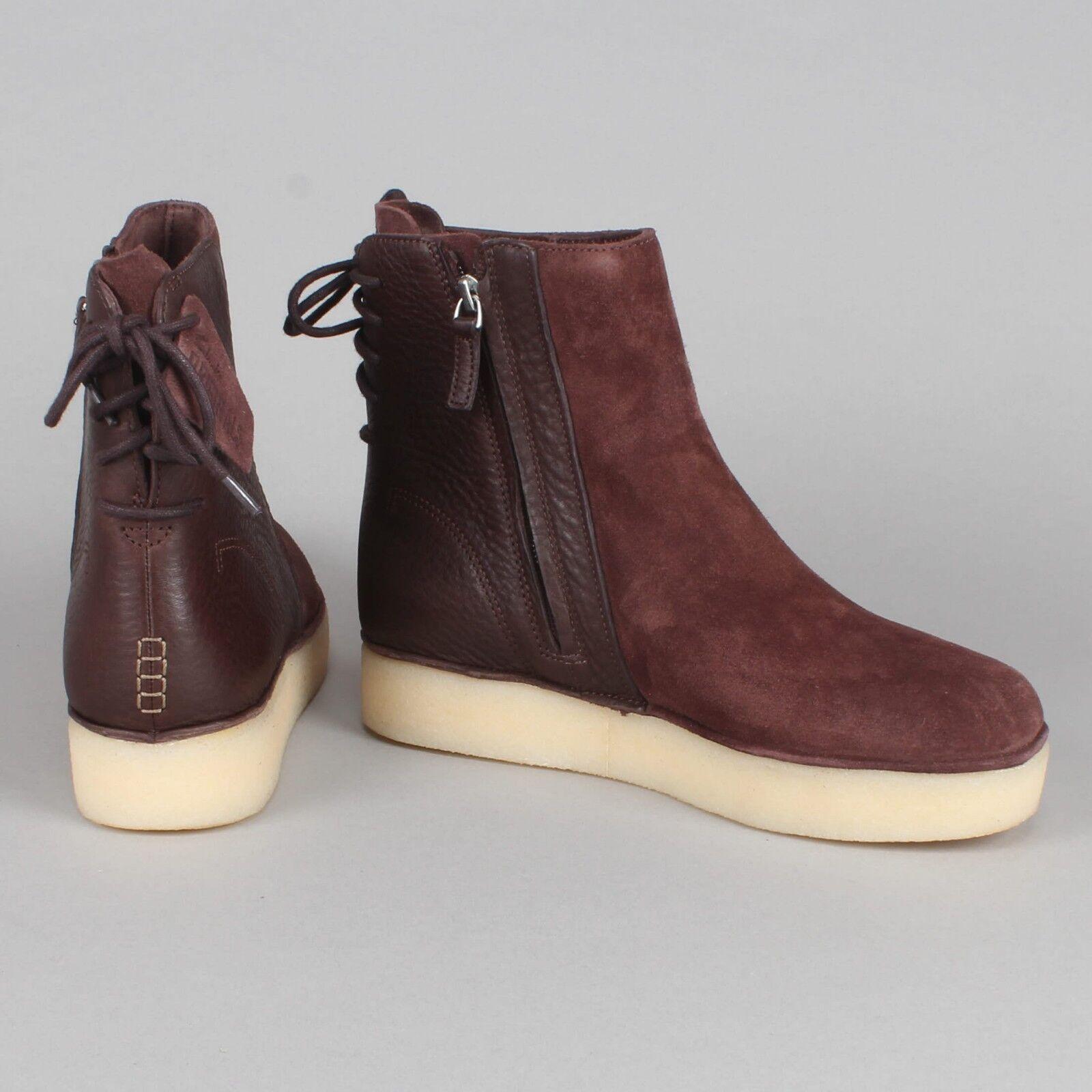 Clarks Originals Timberly Grace Khaki/Braun Combi Suede Ankle Stiefel Größe 7/41