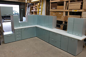 Image Is Loading Ex Display New Complete High Gloss Blue Kitchen