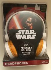 Star Wars HEADPHONES Kid Friendly Volume Episode VII The Force Awakens BB-8 NEW