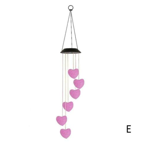 Hanging Wind Chimes Solar Powered LED Light Colour Changing Outdoor Yard U2S1