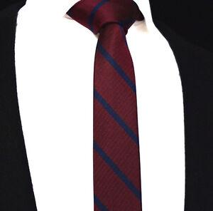 various colors 8cead 69e7a Details zu Herren Schmale Krawatte Kastanienbraun Rot Schmal Blau Streifen  Seide