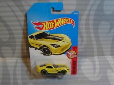 2017 HOT WHEELS ''THEN AND NOW'' #199 = 2013 DODGE SRT VIPER = YELLOW   int.