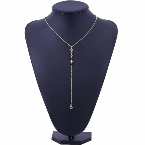 2019 Hot or//argent Y-cou Long LUG Transparent Cristal Lien Collier Pour Femmes