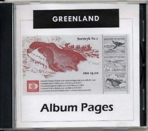 Greenland-CD-Rom-Stamp-Album-1935-2017-Color-Illustrated-Album-Pages