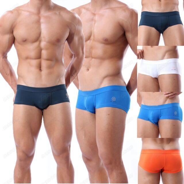 Brand Men's Boxer Briefs Underwear Sexy Sports Swimwear Mini Trunks Size S M L