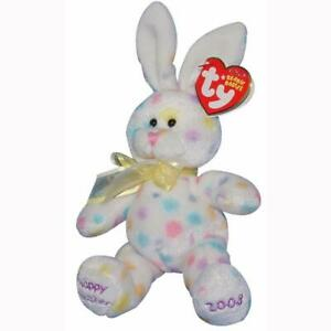 Hoppington the White Easter Bunny Ty Beanie Baby Retired MWMT Hallmark Exclusive
