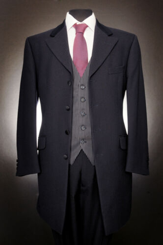MJ-144 MENS NAVY 100/% WOOL WILVORST PRINCE EDWARD 2PIECE SUIT WEDDING FORMAL.