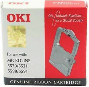 Oki 01126301 Farbband Ribbon bk schwarz Microline ML 5520 5521 5590 5591 OVP A