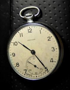"""Molnija"" ~15J  Rare cal.3602  Vintage 4/1958's  Russian Pocket watch"