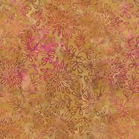 Moda Fabric De La Sol Batiks Gold/pink (4337 47) - By The 1/2 Yard