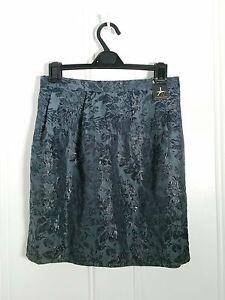 ATMOSPHERE-Metallic-Navy-Blue-short-mini-Pleated-A-line-Skirt-s20-crop-top-tunic