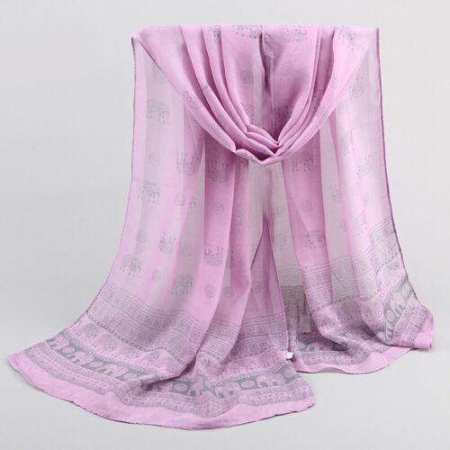 Women Elephant Printing Scarf Fashion Retro Female Multipurpose Shawl Scarf