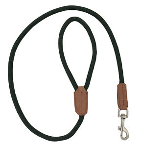 HAND-MADE-GREEN-ROPE-DOG-LEAD-LEASH-LEAD-TRAINING-LONG-SHOOTING-GUNDOG-LEATHER