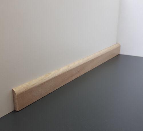 Sockel-//Flachleiste 6 x 24 mm Eiche weiß gebeizt Massivholz BÜRKLE 2,40m