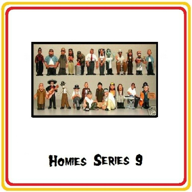 Homies serie 9 -  24 different figures,  great for 1 32 dioramas HTF ( loose )