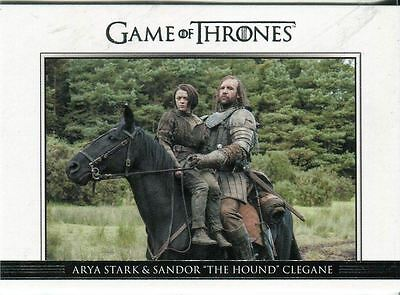 Game Of Thrones Inflexions Base Card #55 The Hound Captures Arya