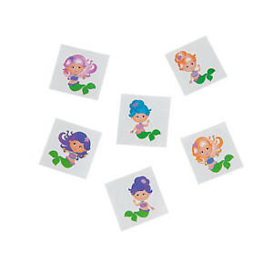 Kids Temporary Tattoos Mermaid Glitter Tattoos Tattoo Party Favours Pack of 36