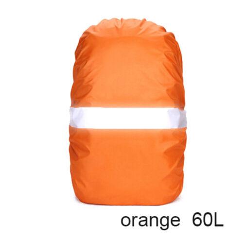 Cycling Travel Waterproof Fabrics Bag Raincoat Backpack Rain Cover Reflective