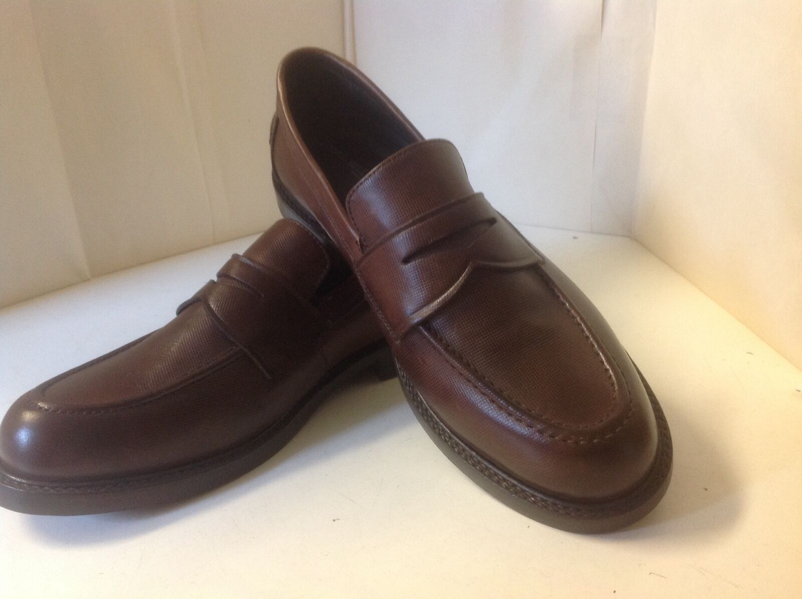Local Uniform Leather Loafers New Brown 8 1/2 M Made in Brazil Shoes Men
