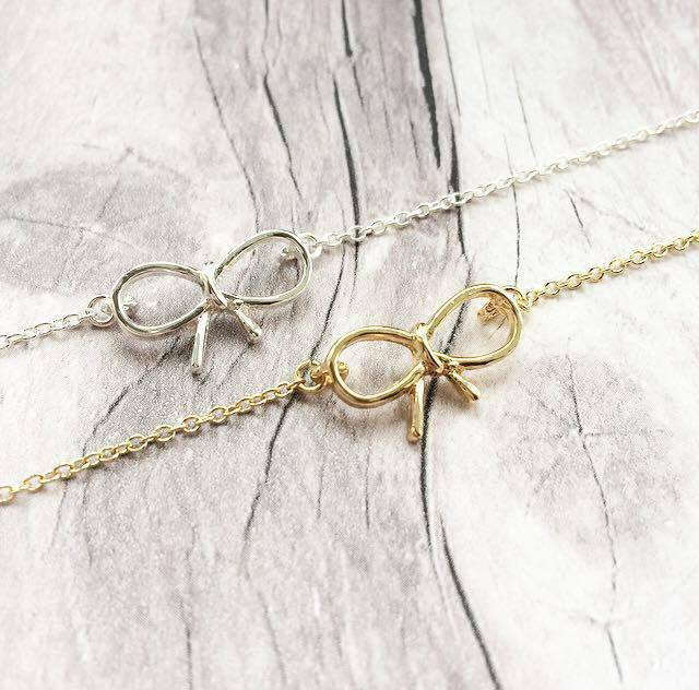 Tie the Knot Bow bracelet, Bridesmaid Gift, Weddings