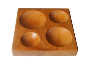 Wooden-Dapping-Doming-Block-with-4-Round-Depressions-J2228