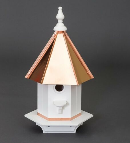 Vinyl woodpecker Birdhouse Amish handmade handcrafted copper top Large 24 tall