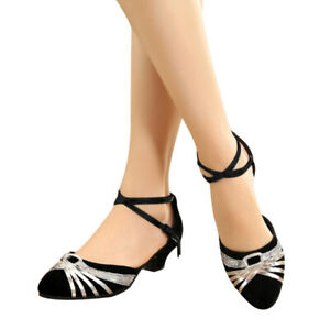Women-Girl-lady-039-s-Latin-Dance-Dancing-Shoes-Pointed-Toe-Shoes-Stylish-Sandals