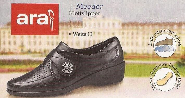 Zapatos señora zapatos mocasines velcro Slipper Slipper Slipper cuero de ara talla 9 (43) ancho H  entrega de rayos