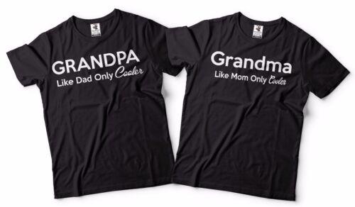 Funny Grandpa And Grandma Matching T-shirts Gift For Grandparents Cool T-shirts