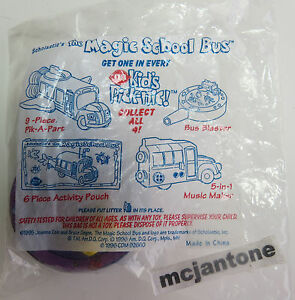 MIP-Dairy-Queen-1996-DQ-Magic-School-Bus-BUS-BLASTER-Cartoon-Scholastic-Toy