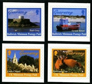 GUERNSEY-1998-SELF-ADHESIVE-SCENES-SET-OF-ALL-4-COMMEMORATIVE-STAMPS-MNH