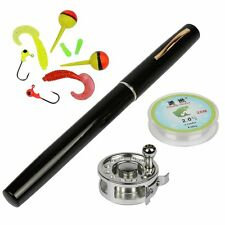 Ice Fishing Set Miniature Rod And Reel Combo Camping Hike Fly Lure Outdoor Alloy