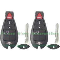 2 New Uncut Replacement Fobik Key Fob Keyless Remote Clicker Transmitter Trunk