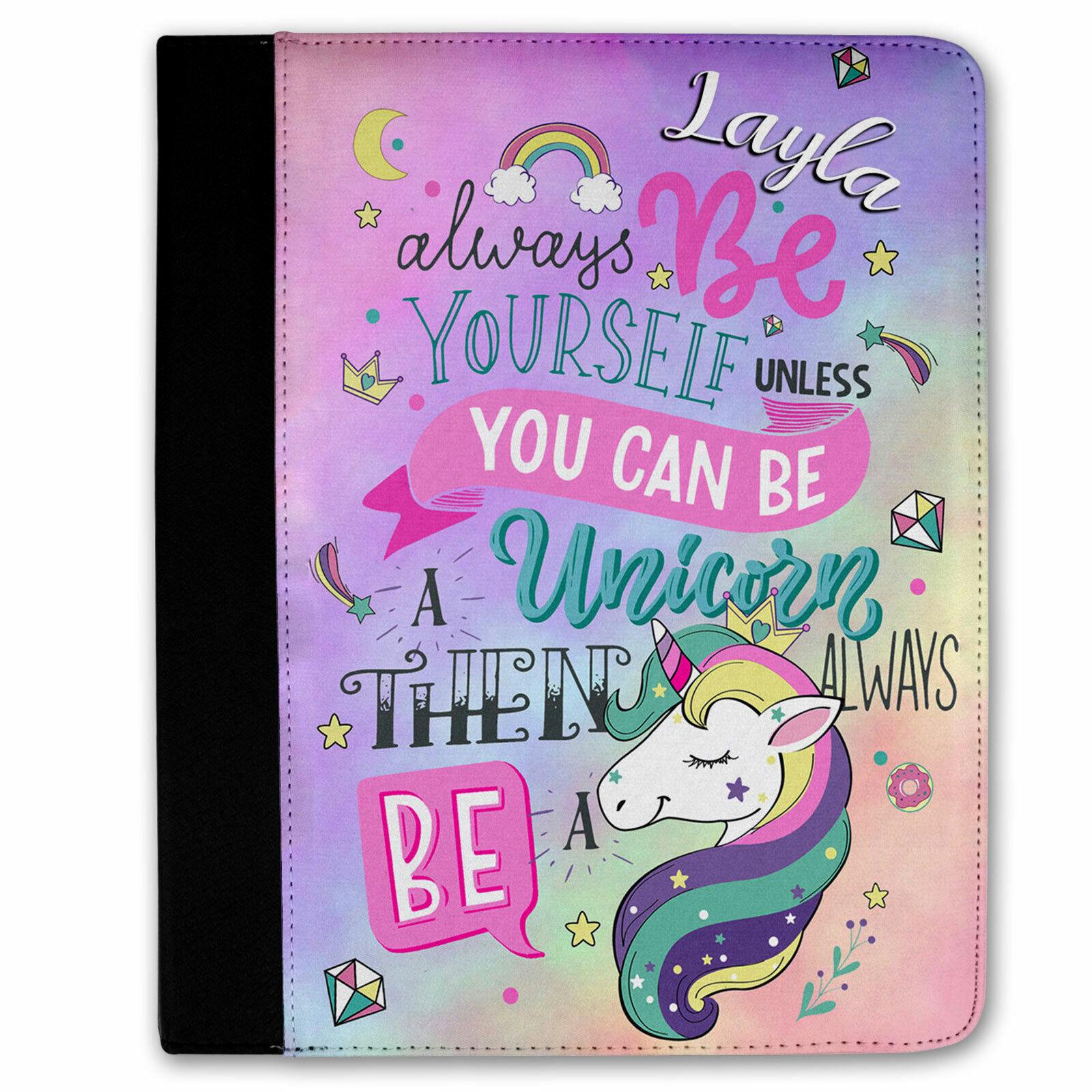 Personalised Girls iPad UNICORN Cover 2
