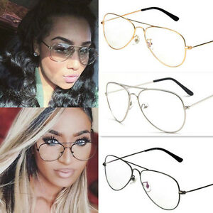 696c79791d Image is loading Retro-Eyeglasses-Vintage-Fashion-Big-Round-Metal-Frame-