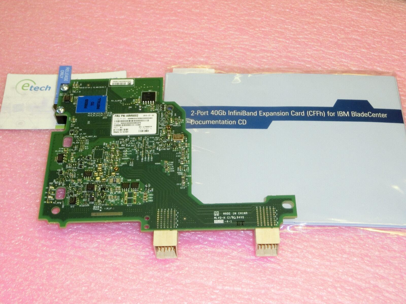 46M6001- 40Gb InfiniBand Card for IBM BladeCenter HS21 HS22 HS23 HX5,FRU 46M6002