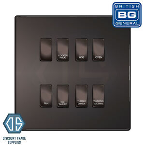 BG Black Nickel Screwless Custom Grid Switch Panel Kitchen Appliance ...